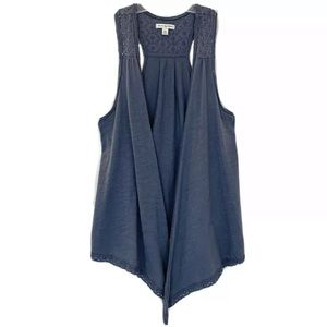 AEO sleeveless open front draped cardigan